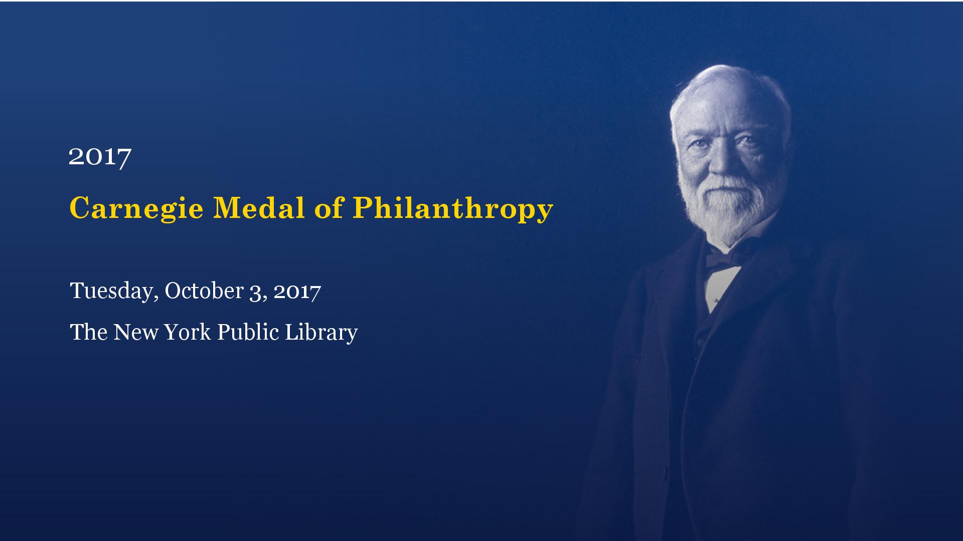Carnegie Medal of Philanthropy Banner Holder