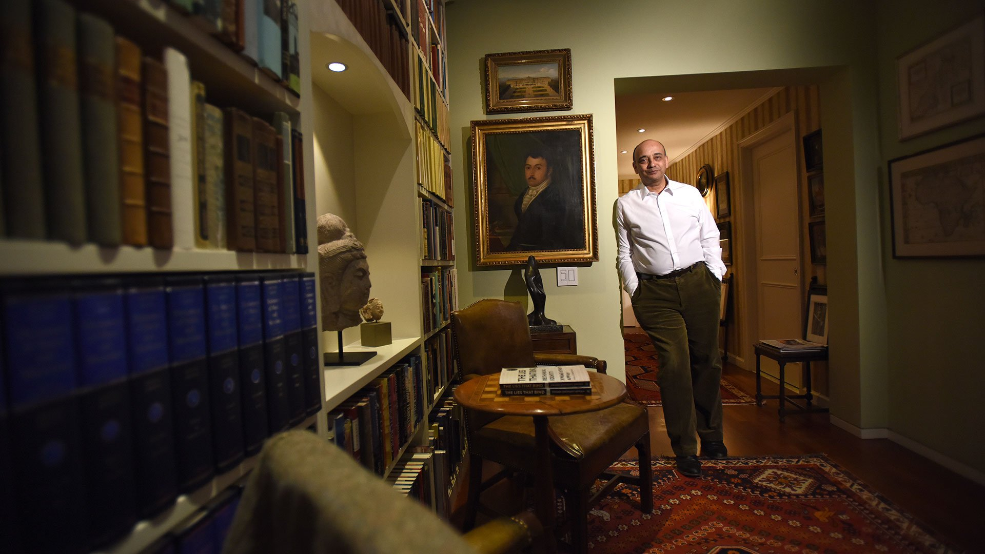 Kwame Anthony Appiah at his Tribeca home (5)