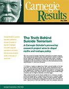 The Truth Behind Suicide Terrorism: A Carnegie Scholar's pioneering research project aims to dispel myths and reshape policy.