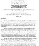 Testimony of Daniel Fallon Director, Program in Higher Education Carnegie Corporation of New York