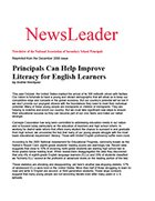 Principals Can Help Improve Literacy for English Learners