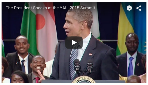 A video, which begins with a question for President Obama from YALI fellow Olusola Owonikoko.
