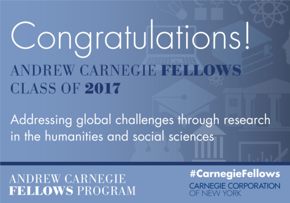 2017 Carnegie Fellows Program Announcement