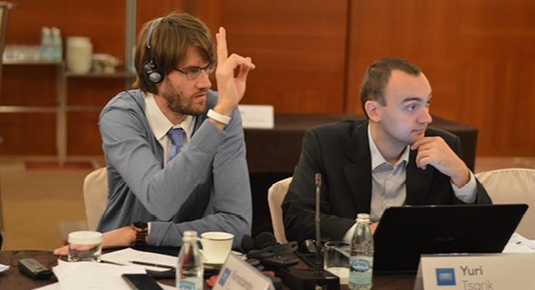 Konstantin Sorokin, adviser, Department of Education and Science, International Training and Methodology Centre for Financial Monitoring Yuri Tsarik, head of Supervisory Board (GR Director) at Center for Strategic and Foreign Policy Studies, Belarus