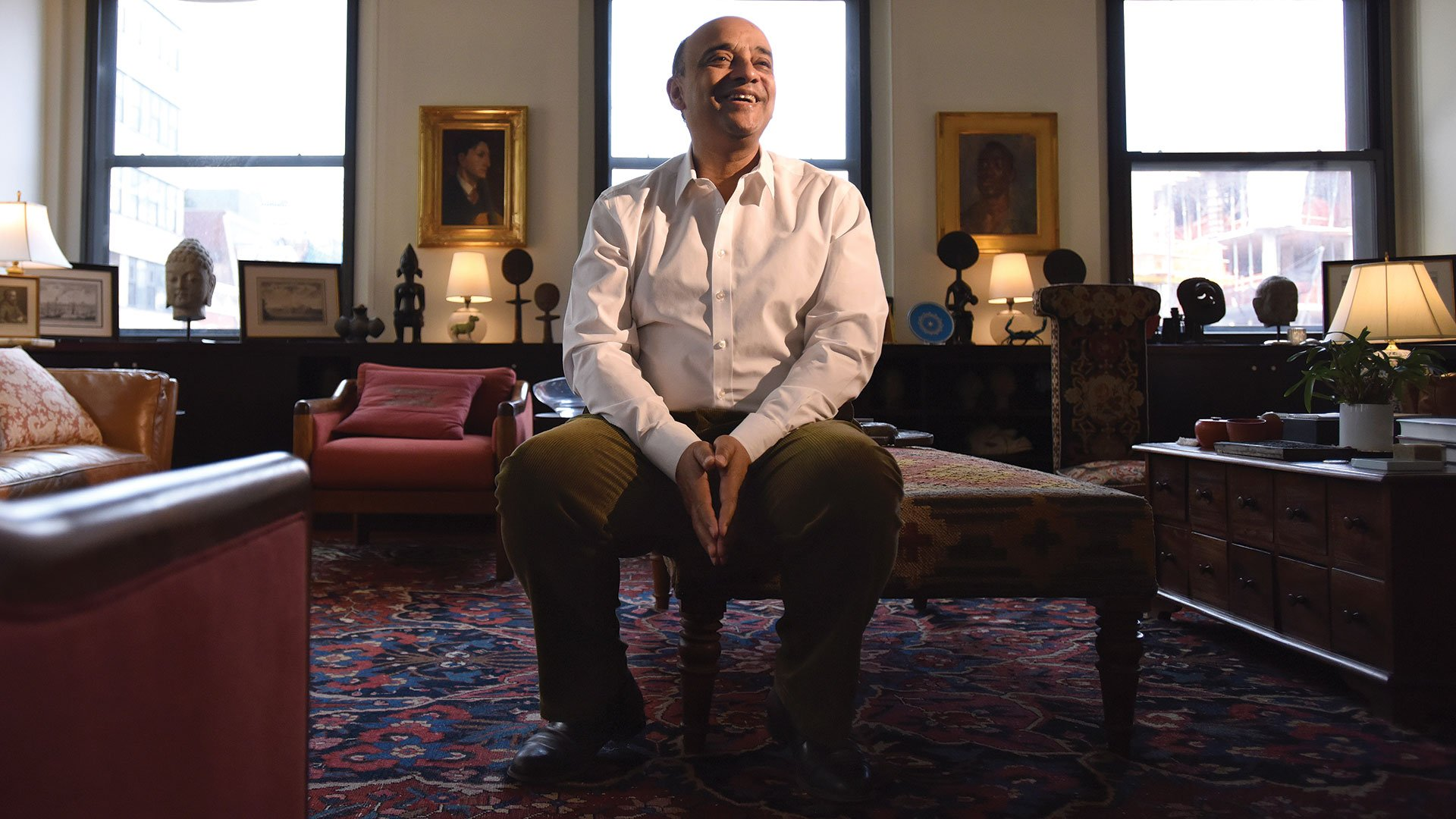 Kwame Anthony Appiah at his Tribeca home (3)